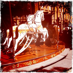 Vintage carousel and gardens
