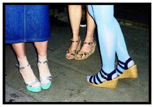 Shoreditch Street Style trendy east london wedges heels shoes