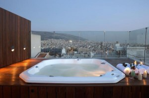Athens greece sleeping hotels luxury view hot-tub accomodation travel