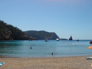 Ibiza benirras beach hippy chill out destination