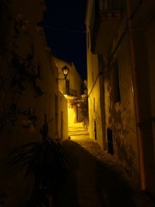 ibiza old town street lighting