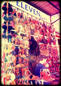athens greece market sandals style shopping