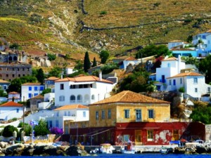 greek islands hydra view