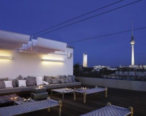 luxury berlin city hotel rooftop terrace