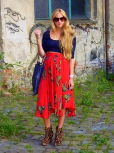 Berlin fashion week street style city prints clashing