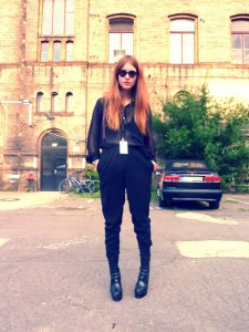 Berlin fashion week street style city black