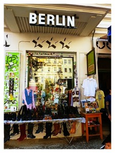 Berline city shopping boutique outside