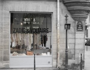 Paris Shopping, Le Marais zadig and voltaire store