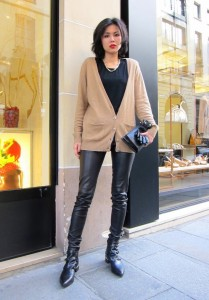 Paris Shopping, Rue St Honore street style cool leather