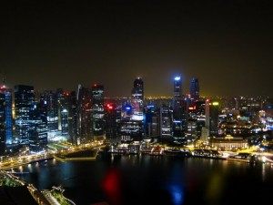 view marina singapore night