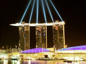 luxury glamour singapore marina bay sands night lights