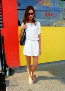 Bali Indonesia street style fashion white dress