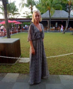 Bali Indonesia street style fashion maxi dress