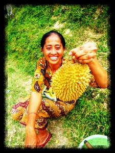 Bali culture Durian fruit eating