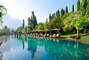 bali tropical gardens retreat pool paradise luxury hotel