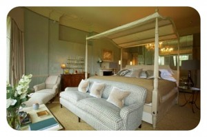 Babington House hotel spa bedroom