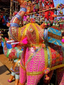 Goa shopping market elephant
