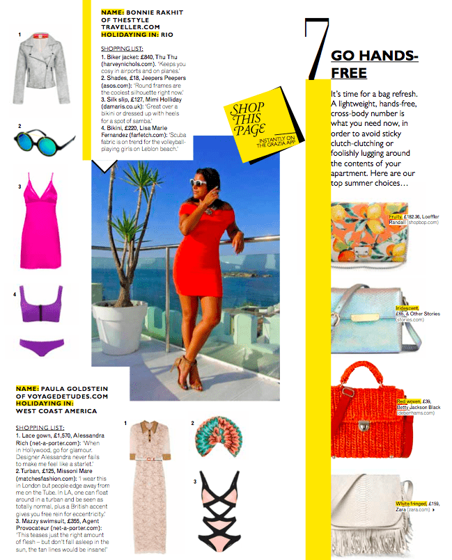 Grazia Magazine Ibiza fashion
