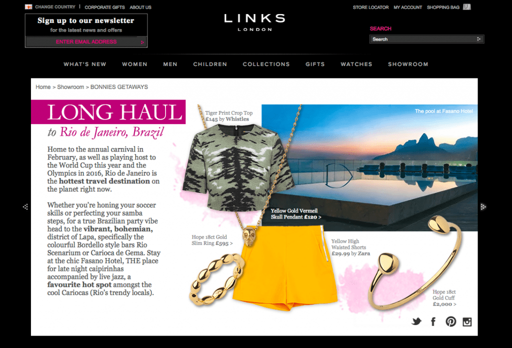 Links of London StyleTraveller takeover -July 14