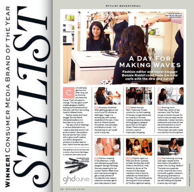 Stylist Magazine GHD article