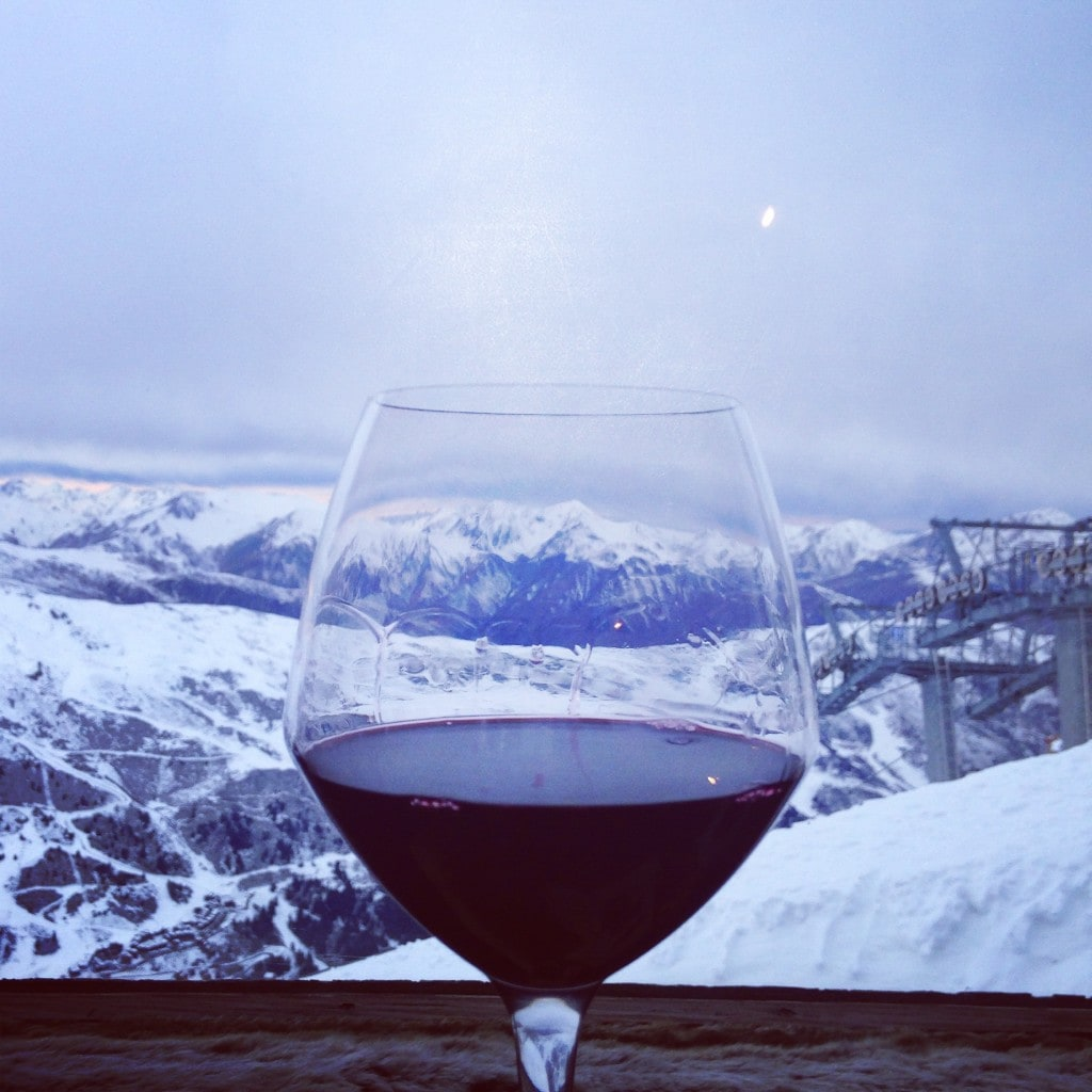 Mountains red wine