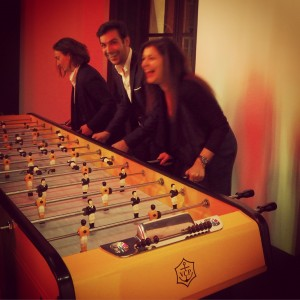 Veuve Clicquot football table