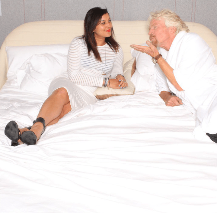 in bed with richard branson