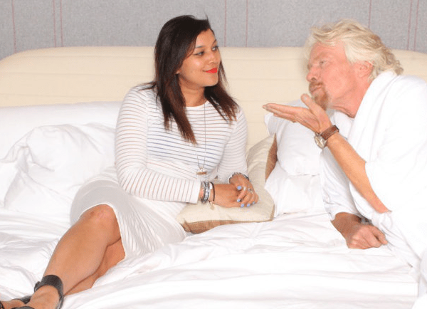 In bed with Richard Branson - Virgin Hotel
