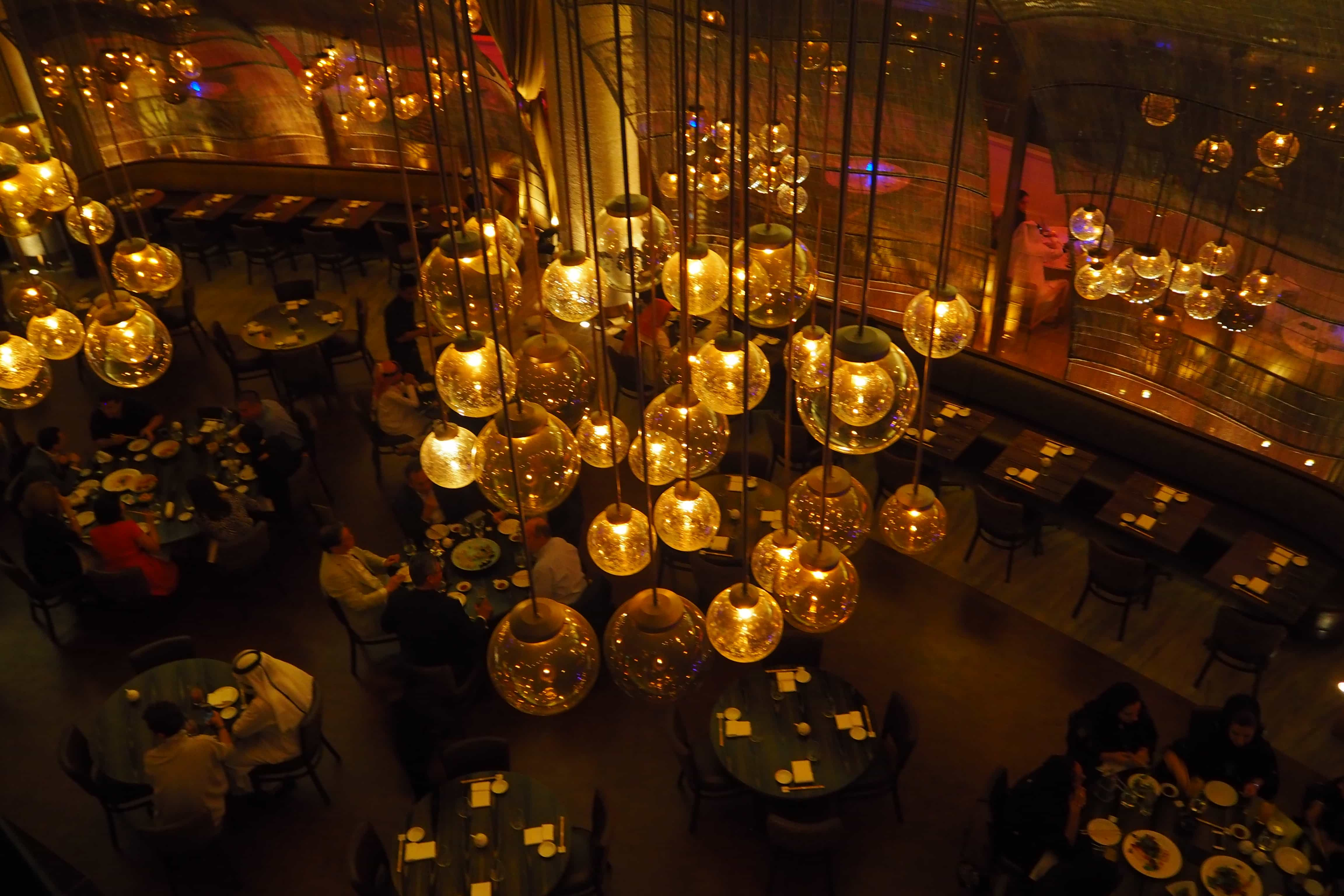 Qatar opening of the worlds largest nobu restaurant the style interiors at nobu restaurant doha qatar arubaitofo Image collections