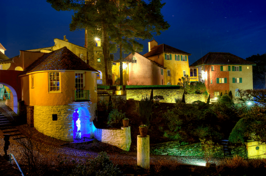 Portmeirion by night
