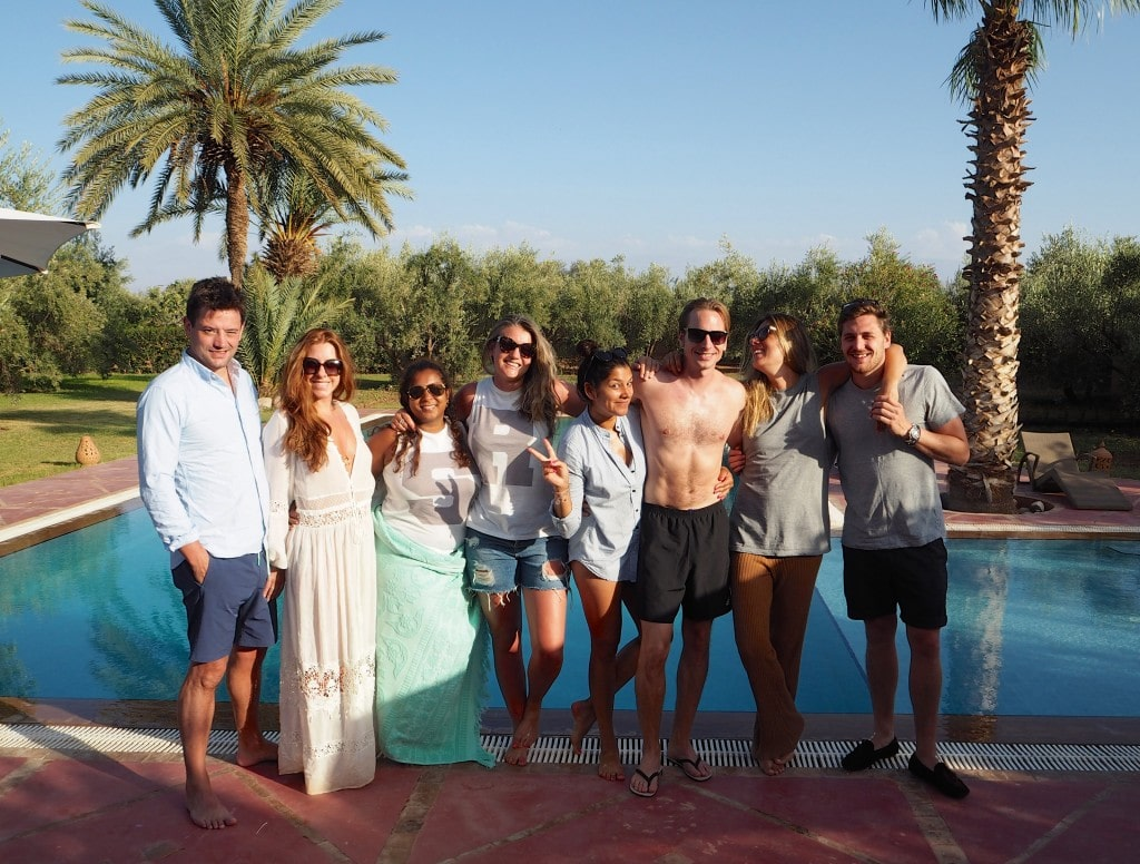 The Style Traveller and crew in marrakech