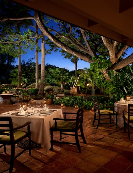 Jumby Bay luxury dining Caribbean Antigua