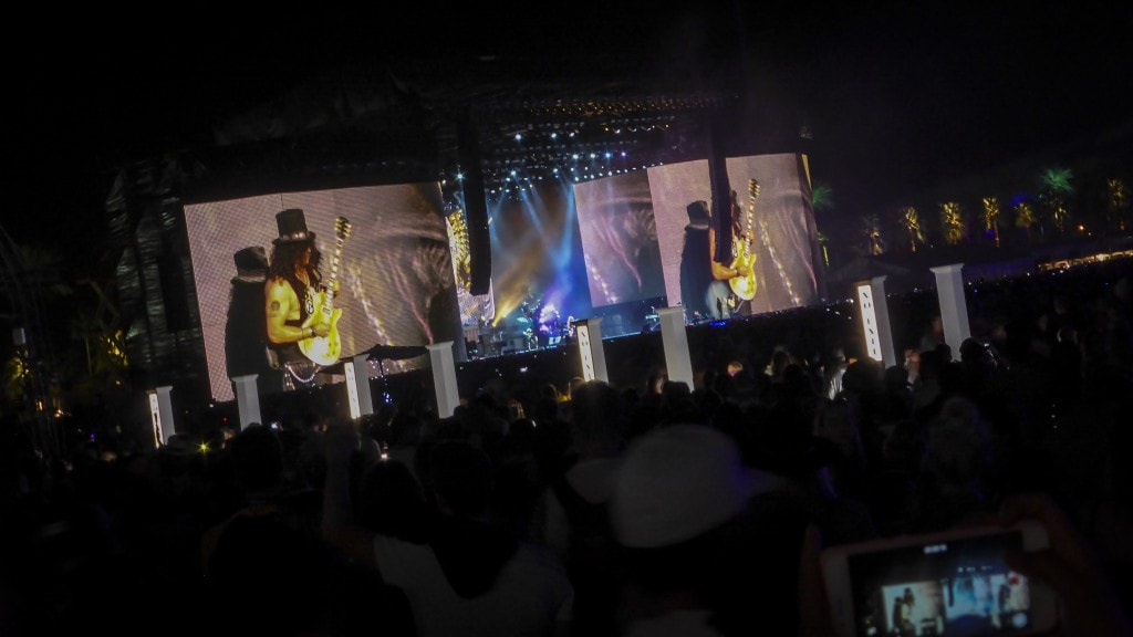 smart road trip, LA guns and roses coachella
