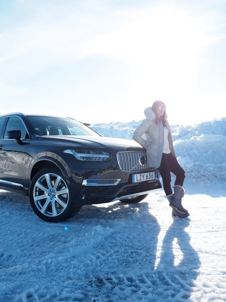 Volvo XC90 Ice Hotel driving The Style Traveller 3