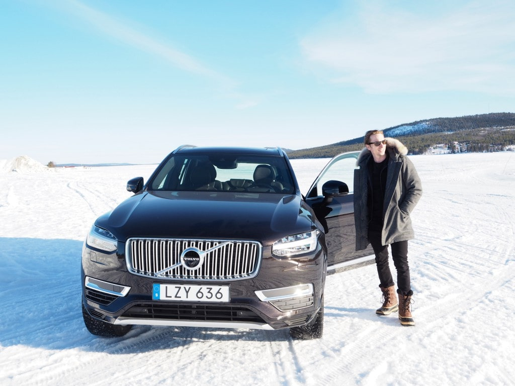 Volvo XC90 Ice Hotel driving The Style Traveller 2