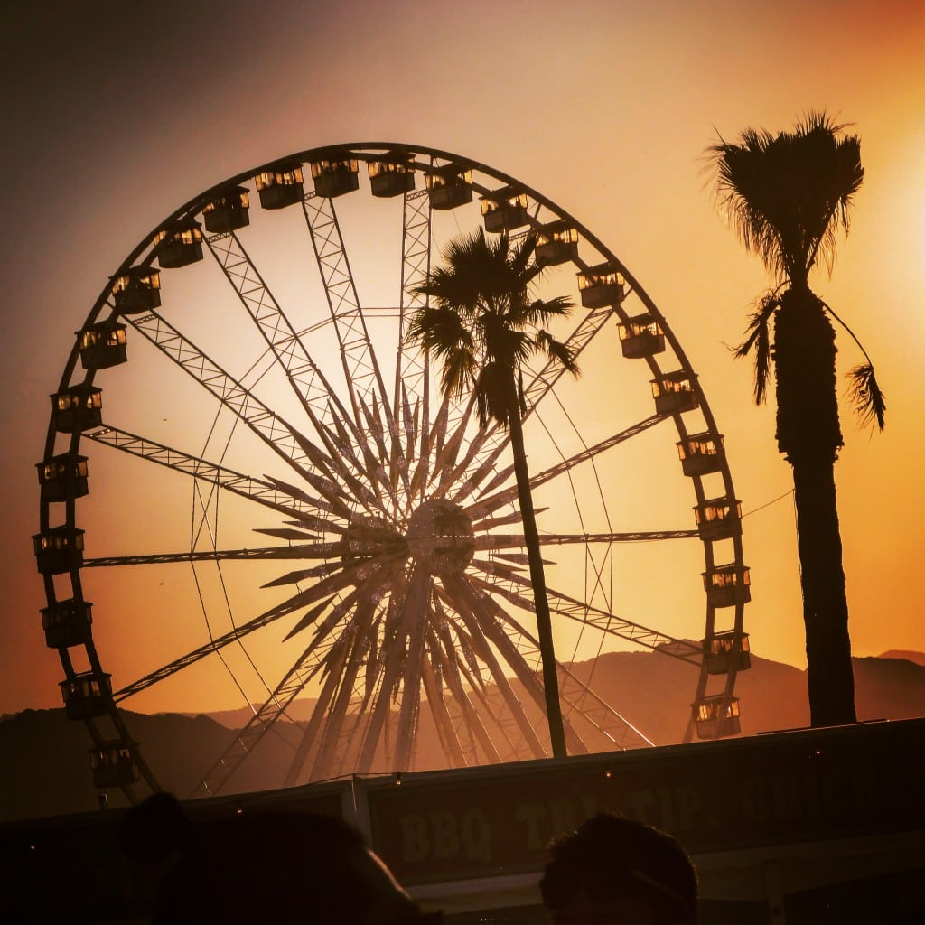 Coachella Ferris wheel smart mercedes
