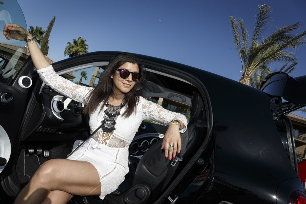 The Style Traveller bonnie Smart car mercedes coachella