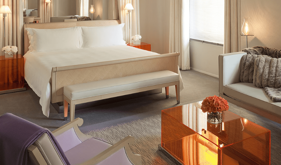 The clift Hotel bedroom The Style Traveller san Francisco