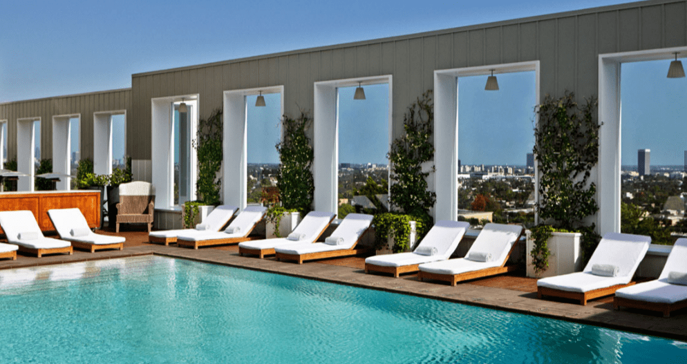 Morgans group Mondrian rooftop pool