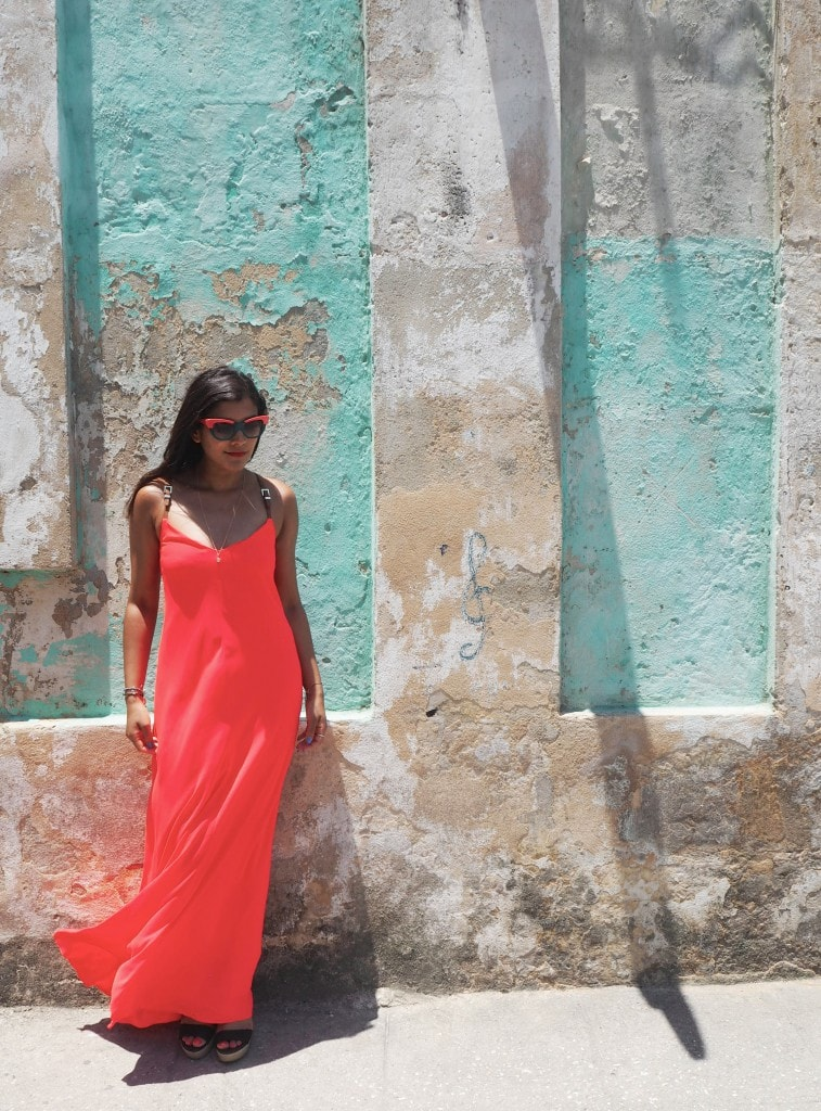 Ted Baker coral dress cuba