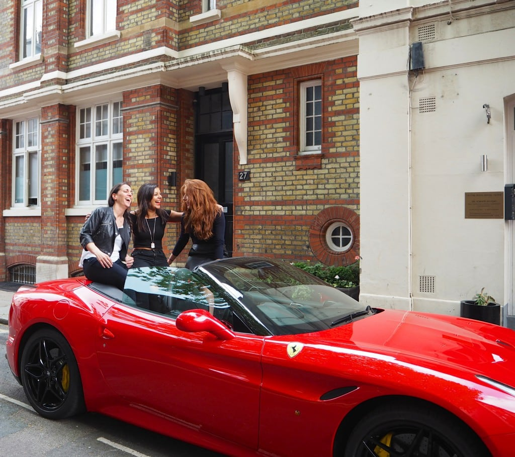 The Style Traveller Bonnie Rakhit and friends Ferrari Cars