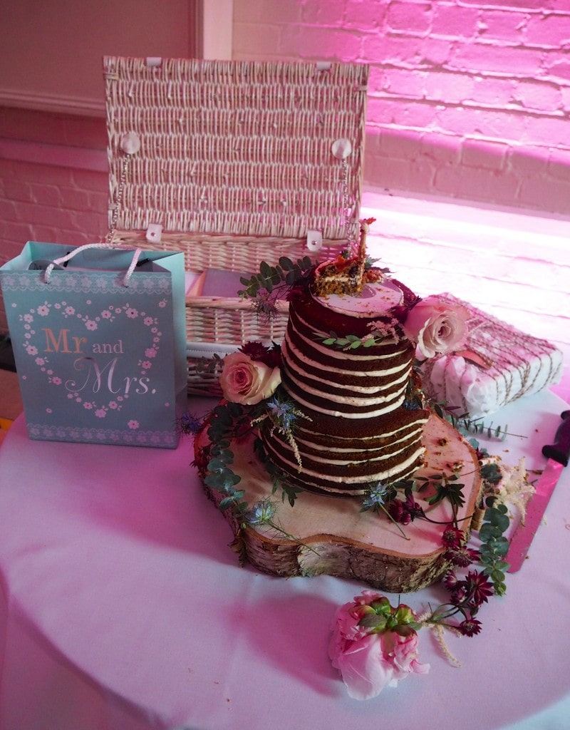 Lucy and richards wedding cake