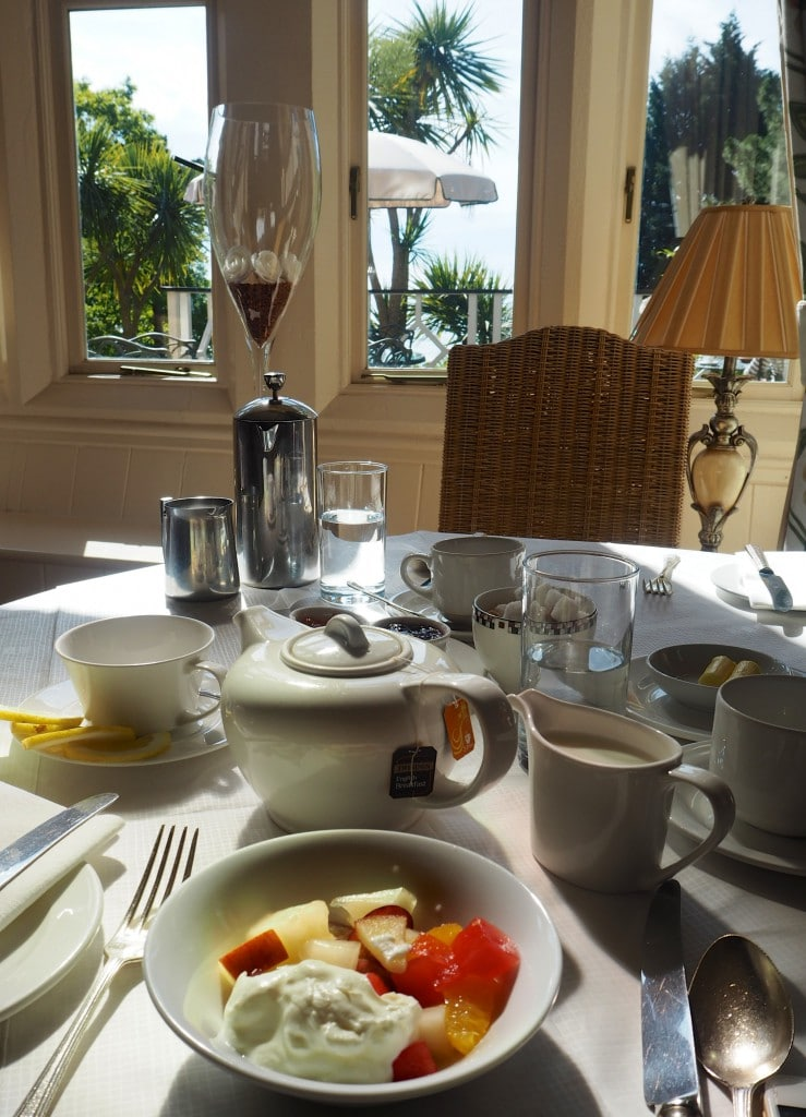 luxury hotel devon orestone manor breakfast