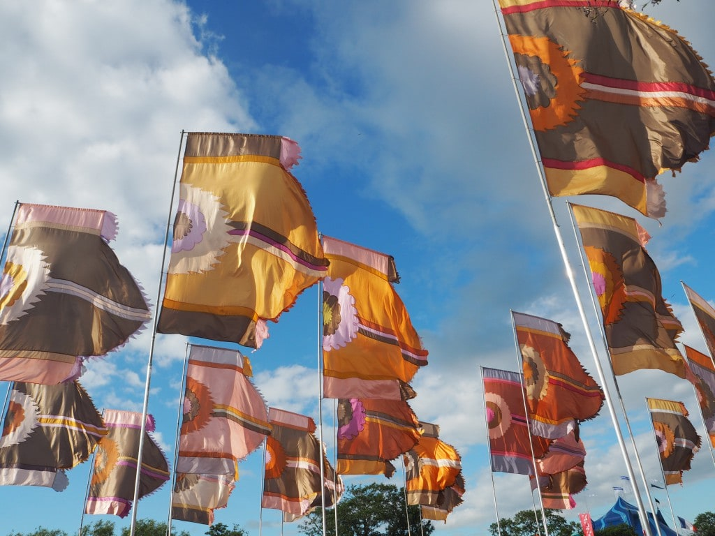 Glastonbury flags 2016 The Style Traveller