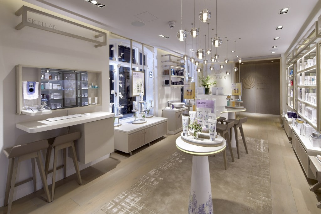 Retail Area Elemis Day Spa London style Traveller