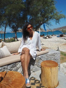Bonnie The Style Traveller in odabash swimwear