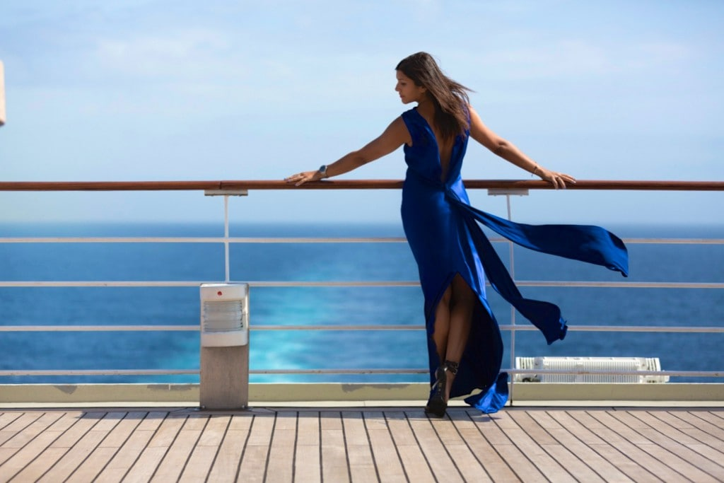 the style traveller amanda wakeley shoot cunard qm2