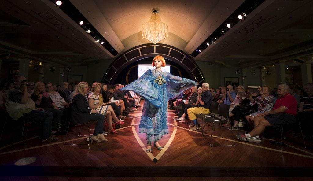 Transatlantic fashion week cunard Zandra rhodes