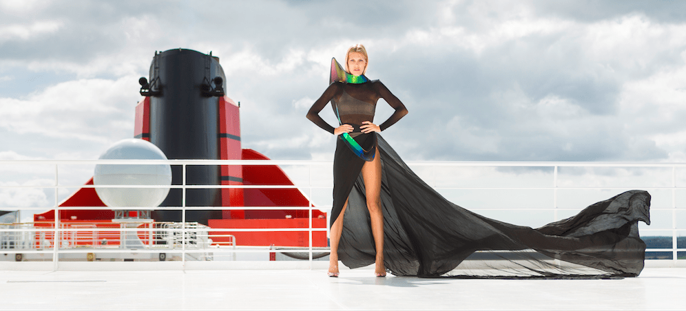 Transatlantic fashion week QM2