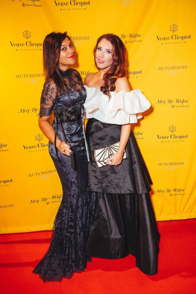 The Style Traveller and lorna luxe halloween party Veuve Clicquot